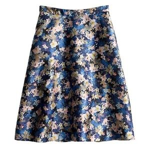 J.Crew Collection Circle Skirt Nightgarden Floral